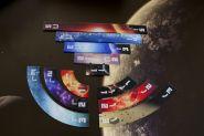 XWing 1 - Manöver Universe01 (11 teilig), bedruckt