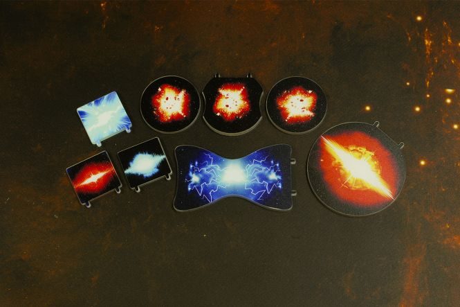 Token Set Bomben (8 teilig), je 1 Proximity, Seismic,  Proton, Ion, Conner Net, Cluster Set